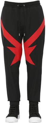 Givenchy Intarsia Wool Grain De Poudre Sweatpants
