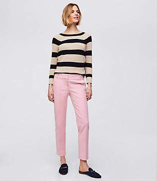 LOFT Button Pocket Riviera Pants in Marisa Fit