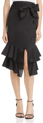 AQUA Tie-Waist Skirt - 100% Exclusive $128 thestylecure.com