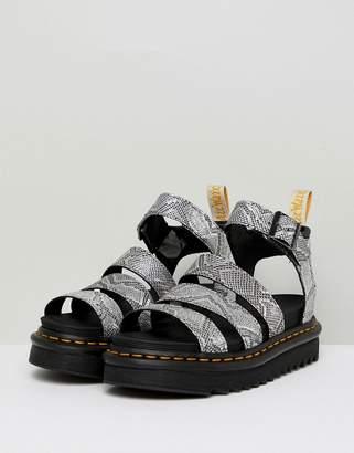f39e6f5b33f2 Dr. Martens Blaire Strappy Flat Sandals in Silver