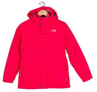 The North Face Girls' Hooded Embroidered Coat