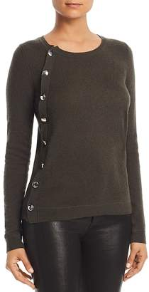 Bloomingdale's C by Asymmetric Button Cashmere Sweater - 100% Exclusive