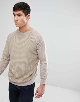 Brave Soul Textured Crew Neck Sweatshirt