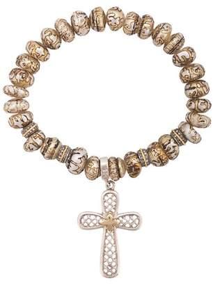 Loree Rodkin cross charm bracelet