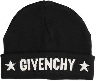 Givenchy Black Cotton Beanie Cap