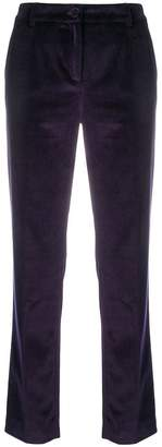 Dolce & Gabbana velvet tailored trousers