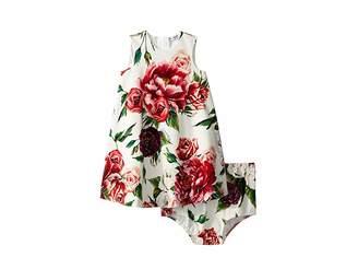 Dolce & Gabbana Knit Peonie Print Dress (Infant)