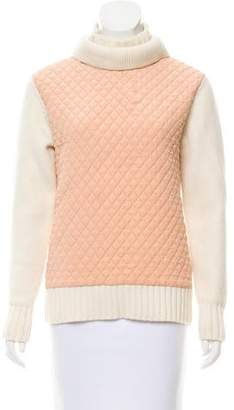 Chloé Quilted Turtleneck Sweater