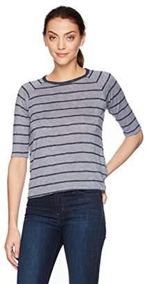 Velvet by Graham & Spencer Women's Kenia Stripe Textured Raglan Sleeve Tee