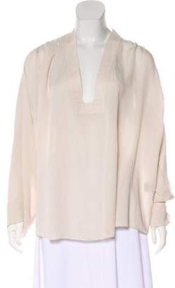 Isabel Marant Long Sleeve Silk Tunic