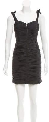 Rebecca Taylor Ruched Silk Dress