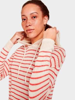 White + Warren Corded Linen Striped Hoodie