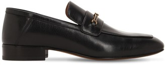 Gucci 20MM LOGO LEATHER LOAFERS