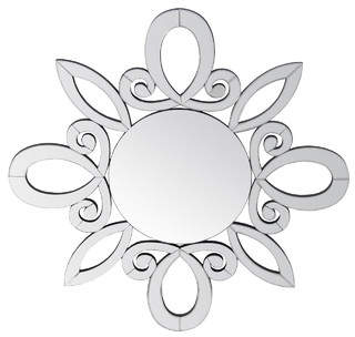 Privilege Beveled Wooden Wall Mirror
