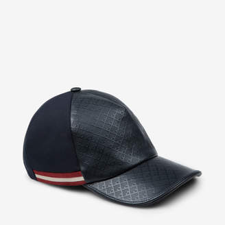 Bally Crescent Toile Printed Leather Cap
