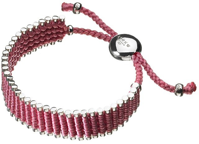 Links of London Breast Cancer Awareness Thin Friendship Bracelet