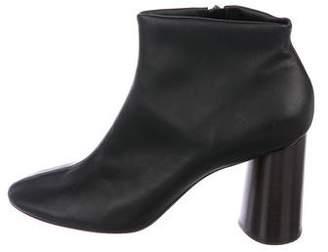 Celine Leather Round-Toe Booties