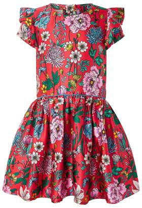 Monsoon Girls' Red Gardenia Dress