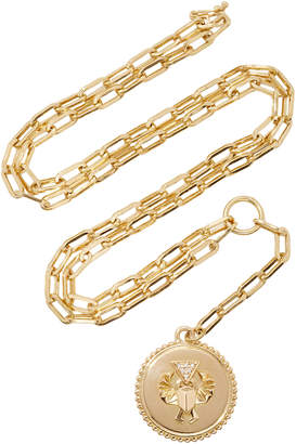 "Foundrae Protection Medium Medallion on 18"" Refined Clip Chain"