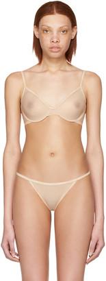 Calvin Klein Underwear Beige Mesh Unlined Demi Bra $40 thestylecure.com