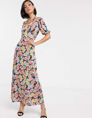 Asos Design DESIGN maxi tea dress with strappy back in floral print