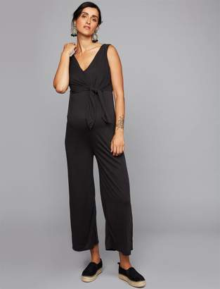 A Pea in the Pod Knot Front Maternity Jumpsuit