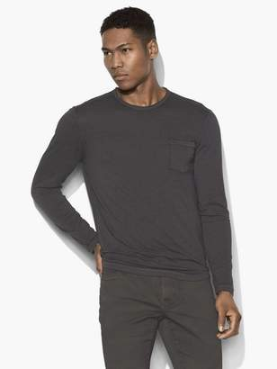 John Varvatos Long Sleeve Pocket Tee