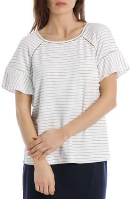 Stripe Trim Short Sleeve Tee