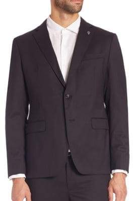 Michael Kors Wool-Blend Two-Button Blazer
