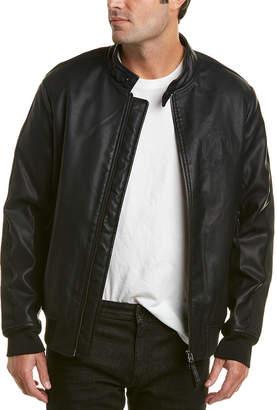 Armani Exchange Moto Collar Bomber Jacket