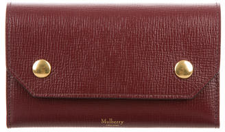 Mulberry Leather Checkbook Cover $195 thestylecure.com