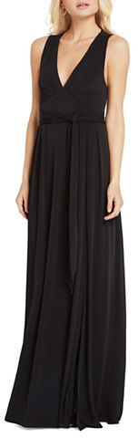 BCBGeneration Bcbgeneration Belted Sleeveless Gown