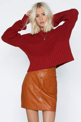 Nasty Gal Had Knit With You Ribbed Sweater