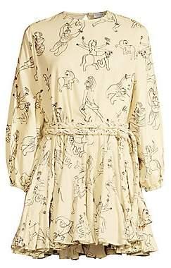 Rhode Resort Women's Ella Long Sleeve Printed Mini Dress