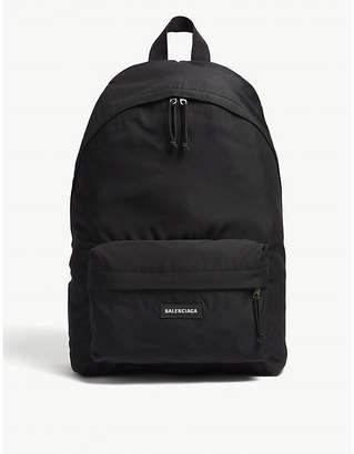 Balenciaga Logo nylon backpack