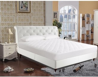 Newpoint International Inc 250-Thread Count Luxury Quilted Cotton Mattress Pad by Newpoint