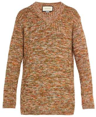 Gucci V Neck Wool Blend Sweater - Mens - Brown