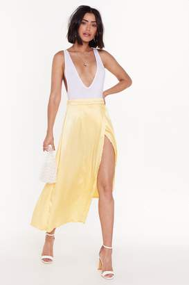1751ddda58 Nasty Gal Smooth Talker Satin High-Low Skirt