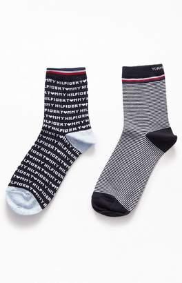 Tommy Hilfiger Heart Short Crew Socks 2-Pack