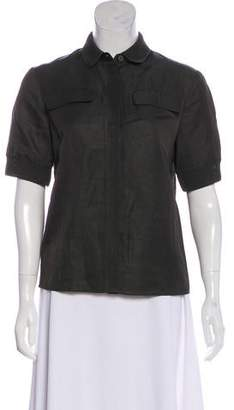 Tomas Maier Short Sleeve Button-Up Top