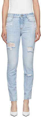 Stella McCartney Blue High-Waisted Skinny Jeans
