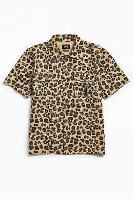 Stussy Leopard Short Sleeve BDU Shirt