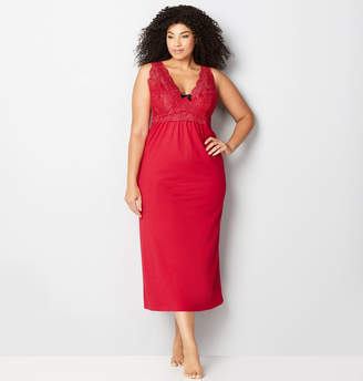 Avenue Red Lace Sexy Nights Sleep Maxi