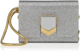 Jimmy Choo LOCKETT MINAUDIERE Silver Glitter Acrylic Clutch Bag