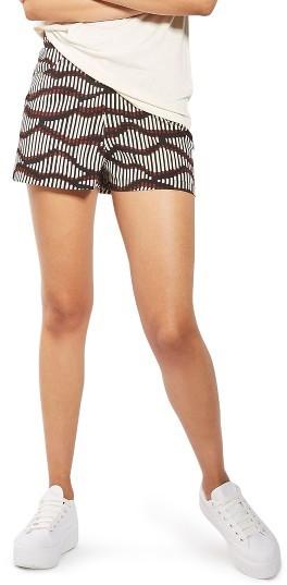 TopshopWomen's Topshop Matchstick Print Shorts