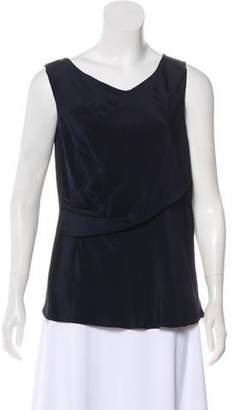 Oscar de la Renta Sleeveless Scoop Neck Top