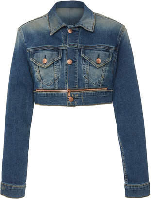 Cotton Citizen Super Crop Cutout Denim Jacket