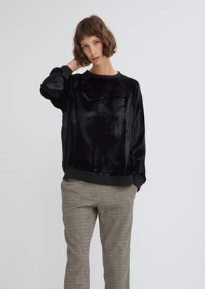 6397 Crushed Velvet Sweatshirt