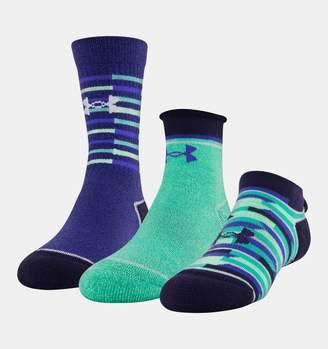 Under Armour Girls' UA Wardrobe 3-Pack Socks