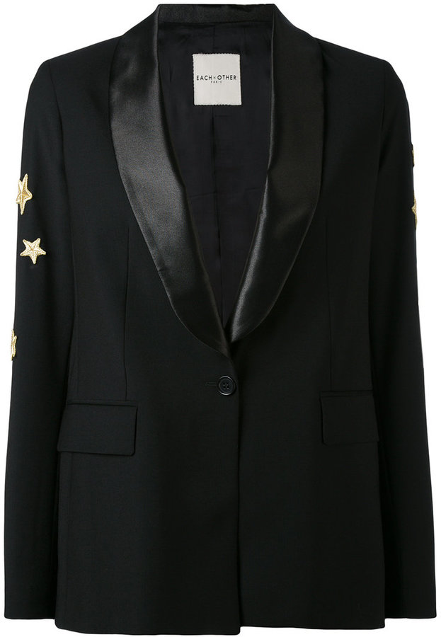 Each X Other star embroidered blazer